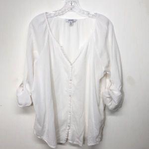 Old Navy Sheer Gauze Button Down Top Shirt